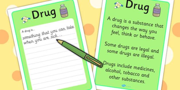 Drug Definition Card - Drug, Definition, Tablet, Pill, Card
