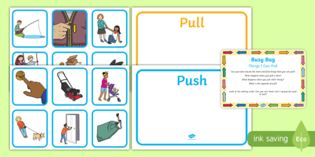 Things I Can Pull Busy Bag Prompt Card and Resource Pack