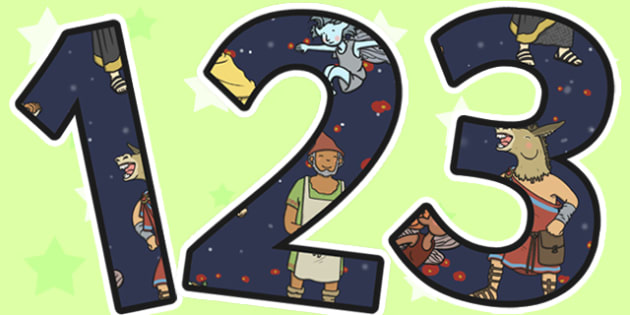 A Midsummer Nights Dream Display Numbers - shakespeare, numbers