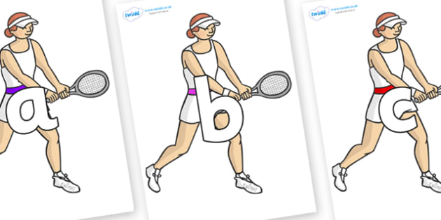 Phoneme Set on Tennis Players - Phoneme set, phonemes, phoneme, Letters and Sounds, DfES, display, Phase 1, Phase 2, Phase 3, Phase 5, Foundation, Literacy