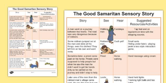 The Good Samaritan Sensory Story - australia, good samaritan, sensory story