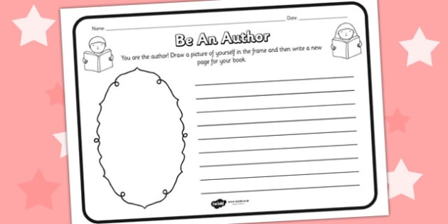 Be An Author Comprehension Worksheet - be an author, comprehension, comprehension worksheet, character, discussion prompt, classroom discussion, reading