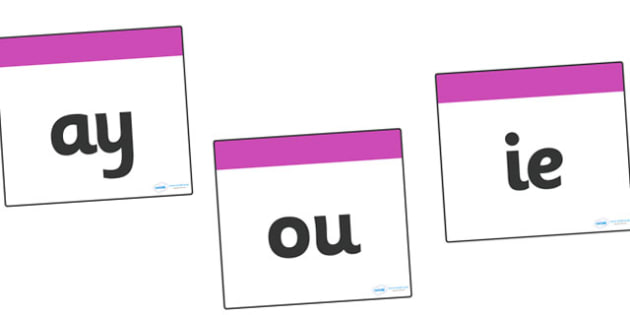 Phase 5 Square Large Display Cards - Phonemes, Phase 5, Phase five, Mnemonic cards, DfES Letters and Sounds, Letters and sounds, Letter flashcards, Image and Word Cards