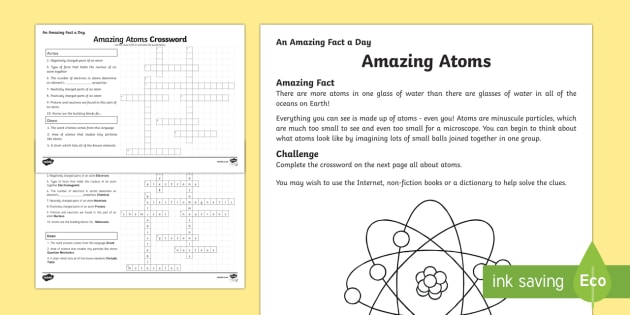 Amazing Atoms Activity Sheet