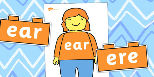 Lego Man ear Sound Family Cut Outs - toys, sounds
