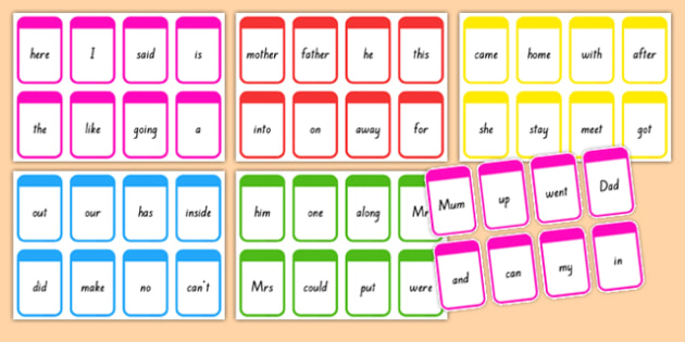 High Frequency Words Flashcards - nz, new zealand, DfES Letters and Sounds, Letters and Sounds, Letters and sounds words, High frequency words, word flashcards