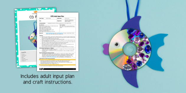EYFS CD Fish Craft Adult Input Plan and Resource Pack - under the sea, EYFS lesson plan, activity