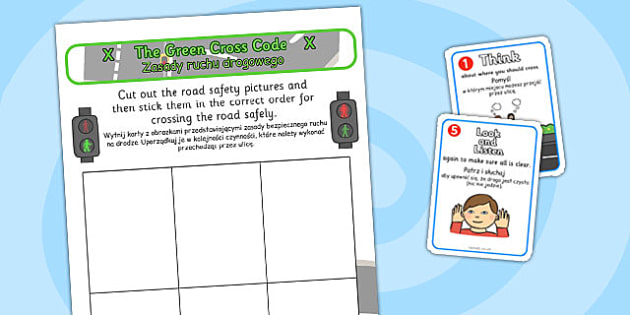 Safe Road Safety Crossing Sequencing Polish Translation - polish, safe, road, safety, crossing
