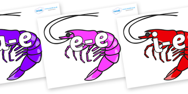 Modifying E Letters on Shrimps - Modifying E, letters, modify, Phase 5, Phase five, alternative spellings for phonemes, DfES letters and Sounds