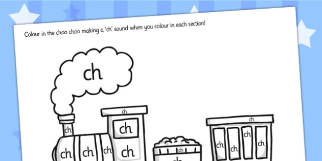 ch Sound Production Colouring Sheet - ch, ch sound, sound, colour