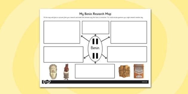 Benin Themed Research Map - benin, research map, research, map