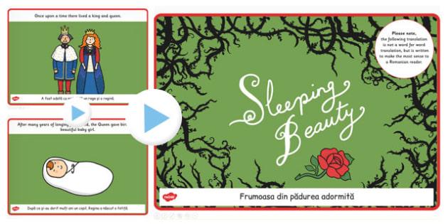 Sleeping Beauty Story PowerPoint EAL Romanian Translation - story