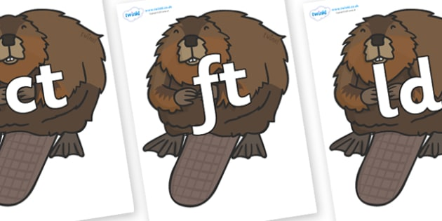 Final Letter Blends on Beavers - Final Letters, final letter, letter blend, letter blends, consonant, consonants, digraph, trigraph, literacy, alphabet, letters, foundation stage literacy