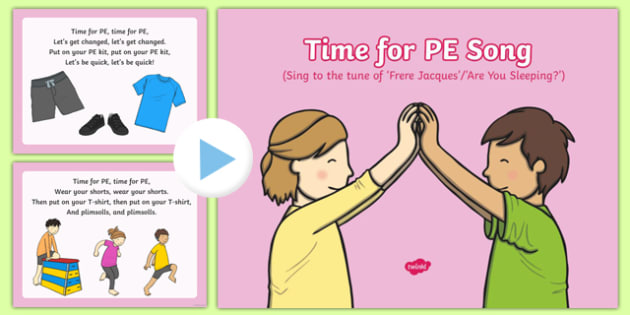 Time for P.E. Song PowerPoint