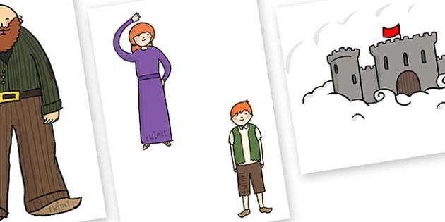 Golden Time Cut-out Image Set (Beanstalks and Castles) - Golden time, golden rules, golden time display, rules, behaviour, golden rule, rule, classroom rules, behaviour management