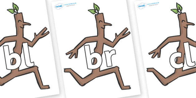 Initial Letter Blends on Stick Man to Support Teaching on Stick Man - Initial Letters, initial letter, letter blend, letter blends, consonant, consonants, digraph, trigraph, literacy, alphabet, letters, foundation stage literacy