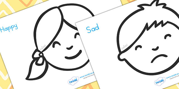 Ourselves Emotions Colouring Sheets - ourselves, emotions