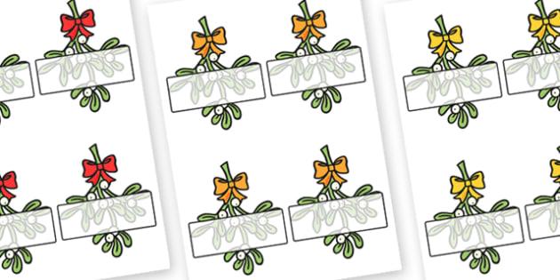 Self Registration Mistletoe Editable  - christmas, mistletoe