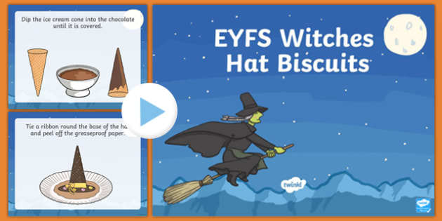 EYFS Witches' Hats Biscuits Recipe PowerPoint