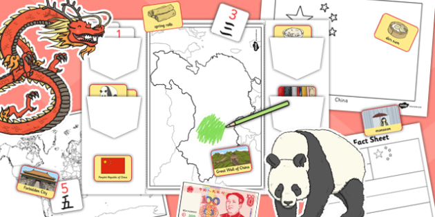 China Lapbook - china, lapbooks, activity, country, booklet