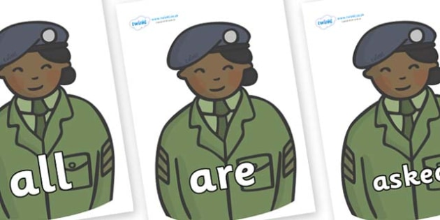 Tricky Words on Sargeants - Tricky words, DfES Letters and Sounds, Letters and sounds, display, words