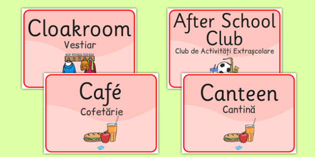 School Room Signs Romanian Translation - romanian, languages, signs, EAL, school room, display, display signs, school, room
