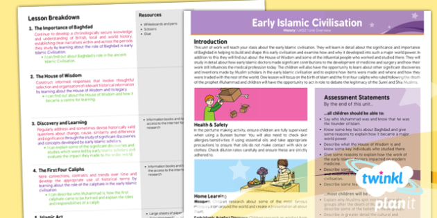 PlanIt - History UKS2 - Early Islamic Civilisation Planning Overview - planit