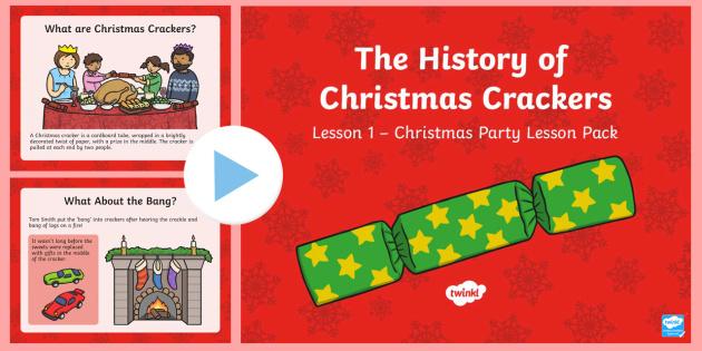 KS1 The History of Christmas Crackers PowerPoint - Christmas, Nativity, Jesus, xmas, Xmas, Father Christmas, Santa, Christmas crackers, history of Chri