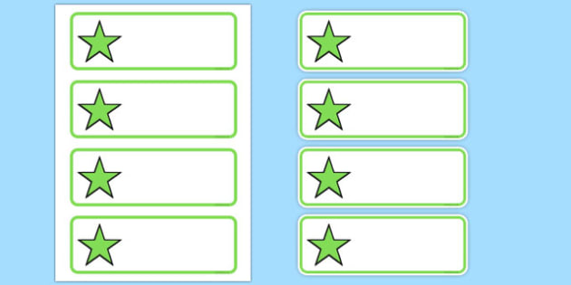 Editable Green Stars Drawer, Peg, Name Labels - Editable Label Templates, star, stars, Resource Labels, Name Labels, Editable Labels, Drawer Labels, Coat Peg Labels, Peg Label, KS1 Labels, Foundation Labels, Foundation Stage Labels, Teaching Label
