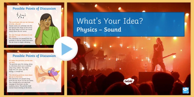 KS3 Sound and Hearing What's Your Idea? PowerPoint