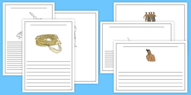 Maui Myths Writing Frames