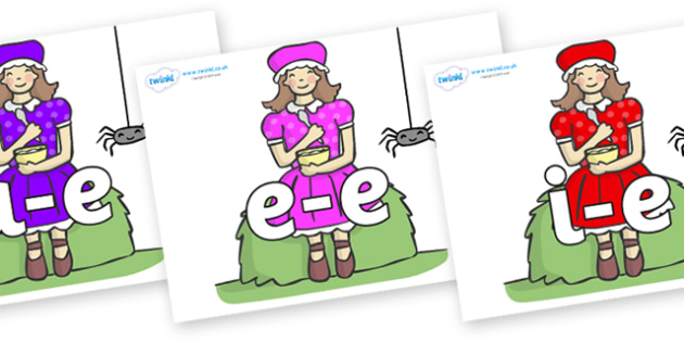 Modifying E Letters on Little Miss Muffet - Modifying E, letters, modify, Phase 5, Phase five, alternative spellings for phonemes, DfES letters and Sounds