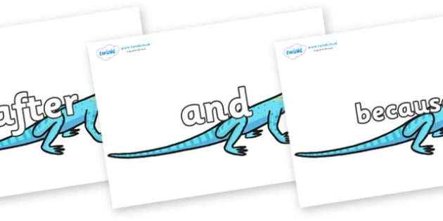 Connectives on Lizards - Connectives, VCOP, connective resources, connectives display words, connective displays