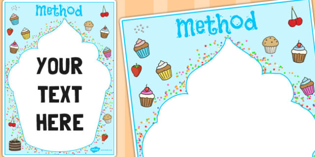 Method Cupcake Themed Editable Notes - edit, cakes, baking, note