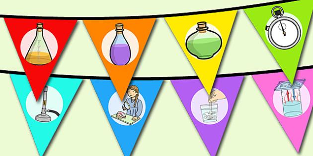 World Science Day Bunting - displays, display, visual, visuals