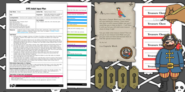 Making Treasure Chests EYFS Adult Input Plan and Resource Pack