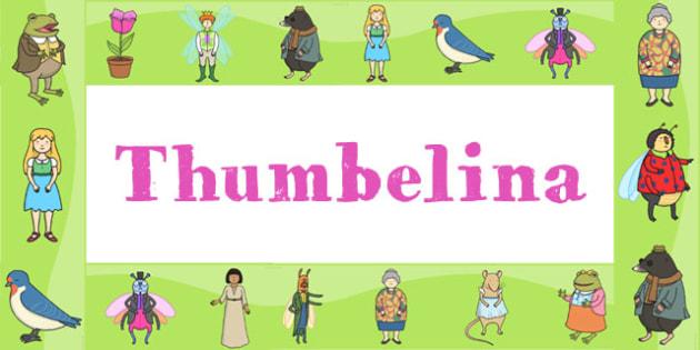 Thumbelina Display Borders - stories, story books, borders