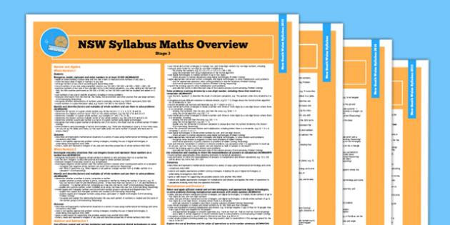 NSW Stage 3 Maths Syllabus Overview - australia, syllabus, nsw