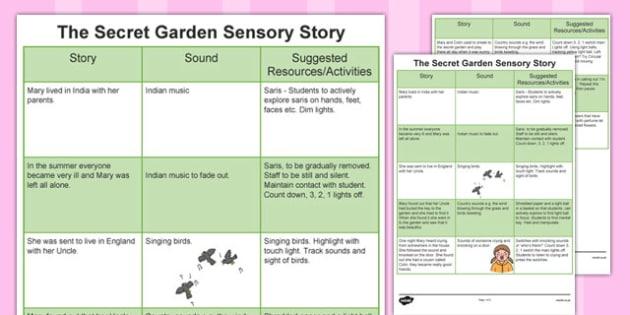 The Secret Garden Sensory Story - secret, garden, secret garden, sensory, story, sensory story, reading, senses, listening, feeling, secret garden story