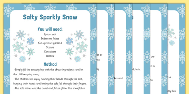6 Ideas for Pretend Snow Play - Perfect for Sensory Bins