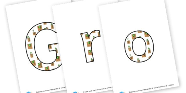Growing - Letters  - Plants & Growth Display Primary Resources, flowers, growing