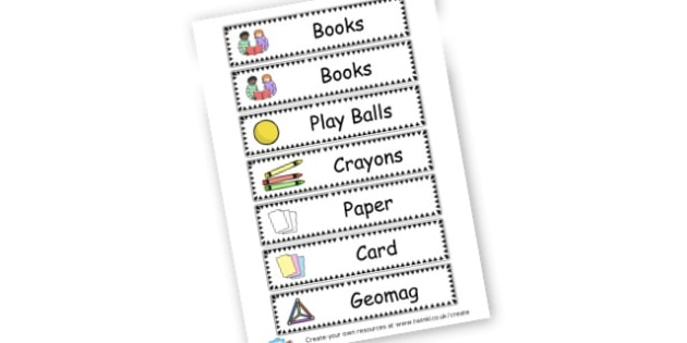Mixed Drawer Labels  - Resource Labels Primary Resources, resource, label, drawer labels
