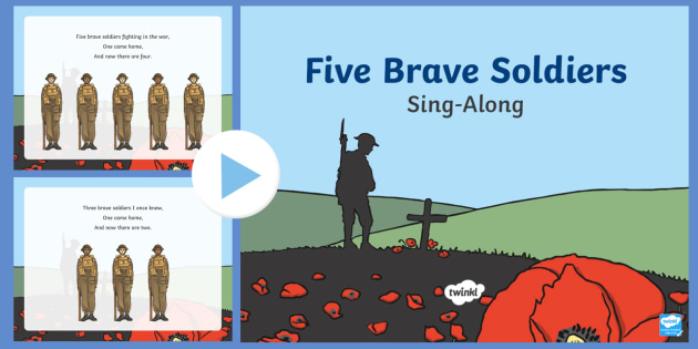 Five Brave Soldiers Song PowerPoint