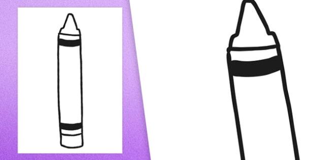 Blank Crayon Cut Out - blank, crayon, display, cut out, blank crayon, cut, out