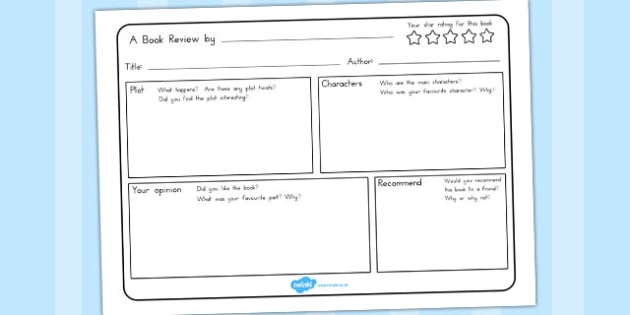 Book Review Writing Template - australia, book, review, write