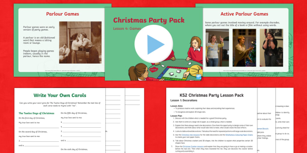 KS2 Christmas Party Lesson Pack
