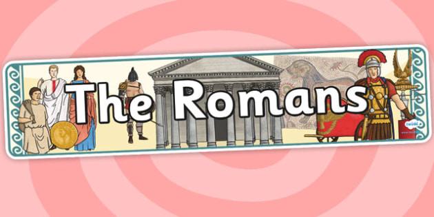 The Romans Display Banner - romans, display banner, banner