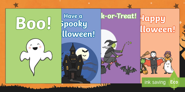 Halloween Gift Card Template