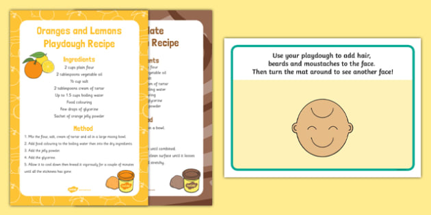 Happy and Sad Upside-Down Face Playdough Recipe and Mat Pack