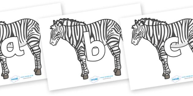 Phoneme Set on Zebras - Phoneme set, phonemes, phoneme, Letters and Sounds, DfES, display, Phase 1, Phase 2, Phase 3, Phase 5, Foundation, Literacy